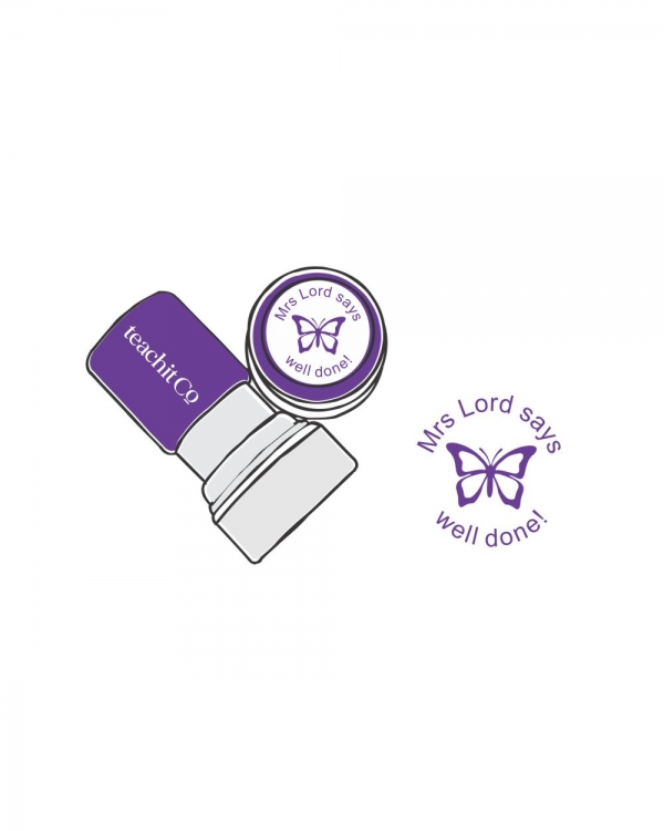 Digital stamp butterfly