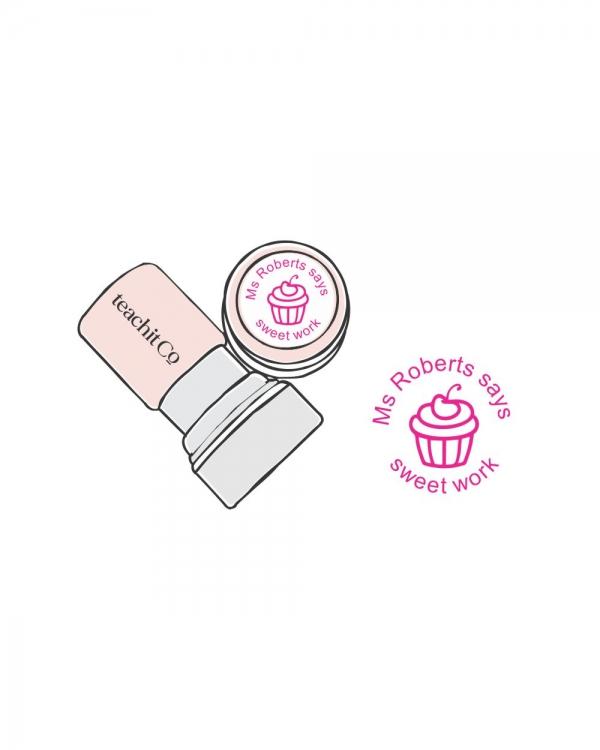 digital stamp cupcake