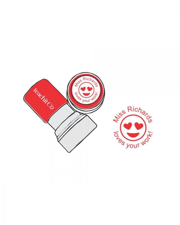 digital stamp heart eyes