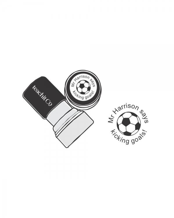 digital stamp soccer