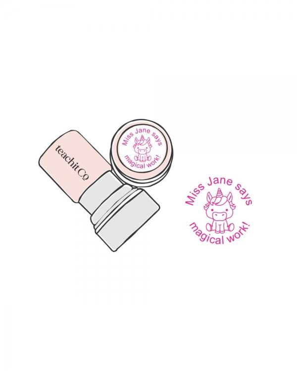 digital stamp unicorn