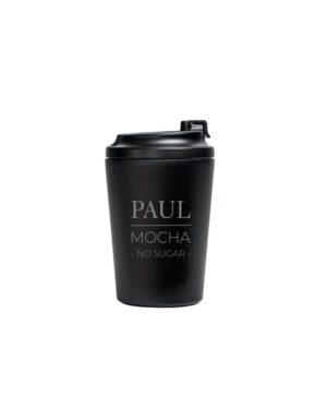 Custom laser engraved coffee cup