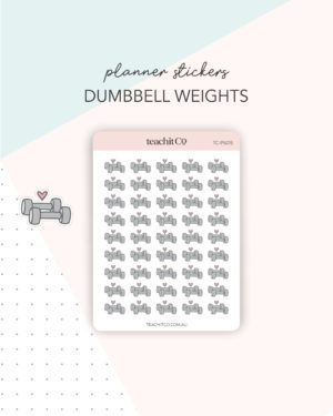 dumbbell weights planner stickers