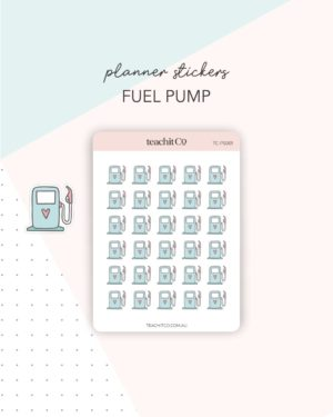 Fuel pump planner stickers