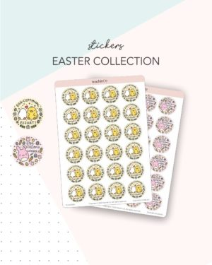 Easter pun stickers